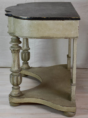 Napoleon III console table - black and grey patina 48""