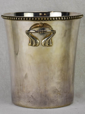 French champagne bucket from the 1920's - silverplate with gadrooning