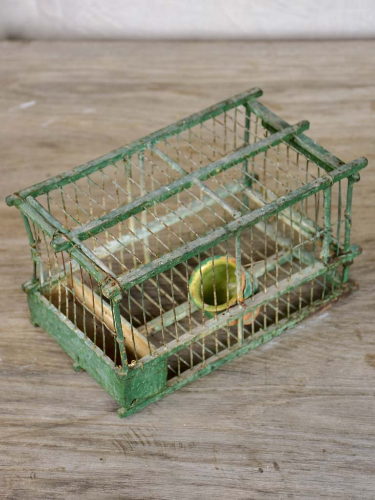 Very small antique French birdcage