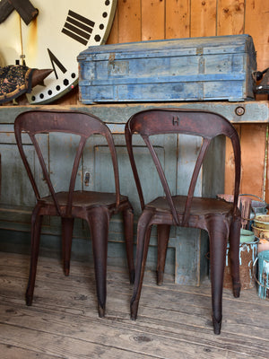 Pair of vintage French Multipl' chairs