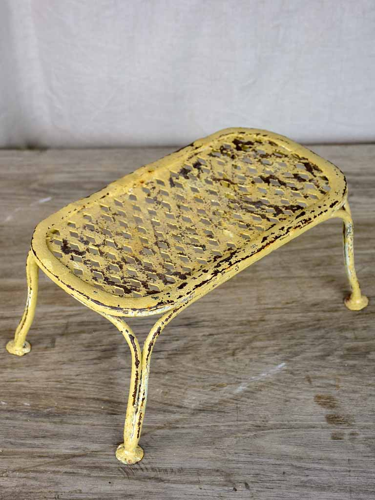 Small antique French garden footrest