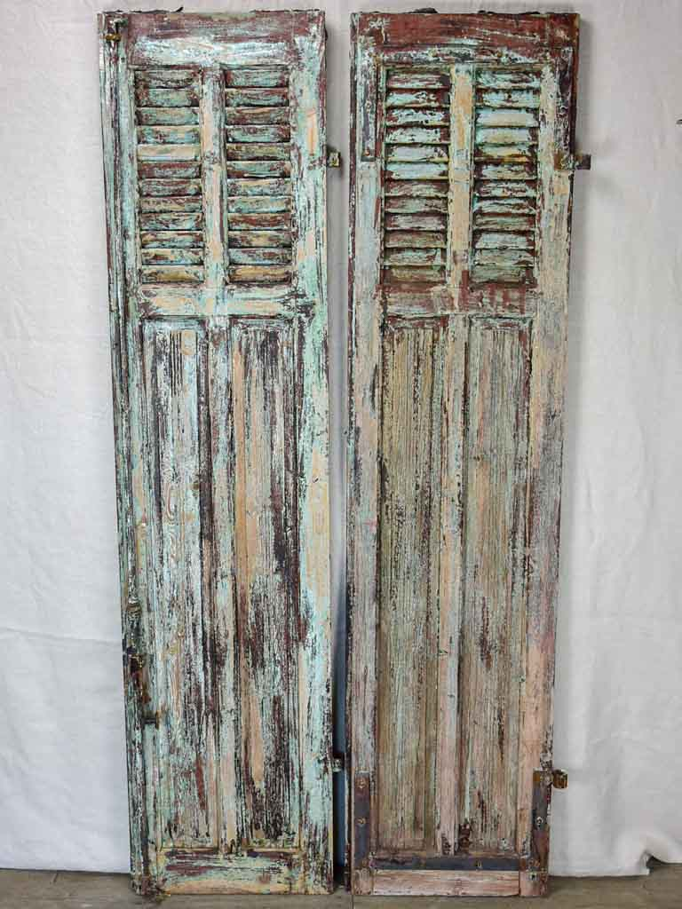 Pair of rustic French shutters