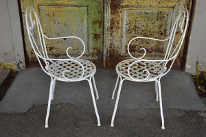 Set of four vintage French garden chairs