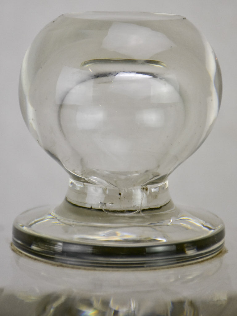 Early 20th century French patisserie dome - clear glass 11""