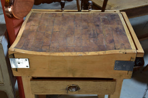 Early 20th century French butcher's block