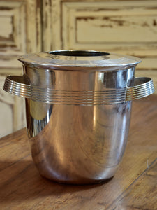 Vintage French champagne bucket with lid