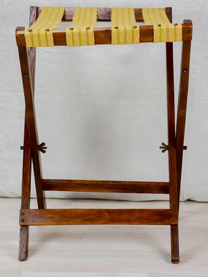 Antique French folding suitcase stand / porte valise
