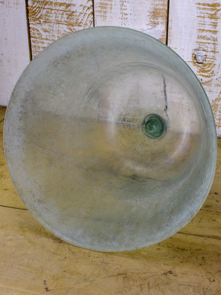 Antique French glass garden 'cloche'
