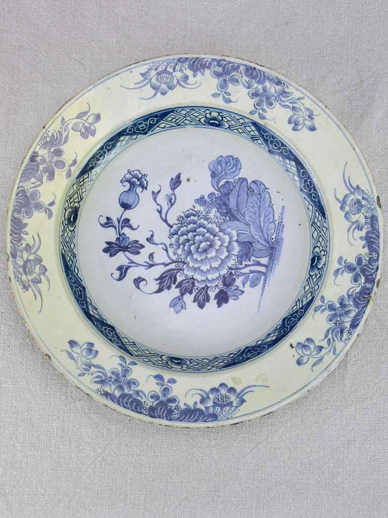 18th Century English Delft plate