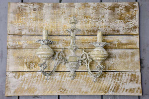 Pair of artisan made wall sconces for candles - salvaged antique materials