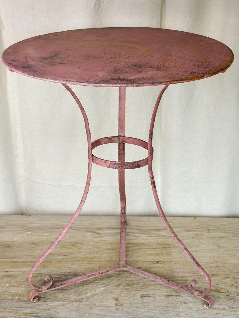 Pink French garden table - late 19th / early 20th Century
