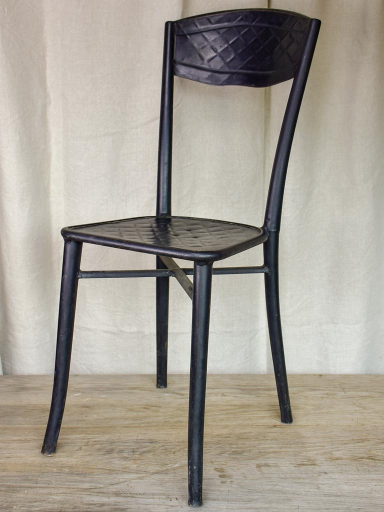 Four black French garden chairs - bistro style