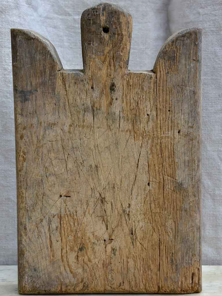 Small and thick antique French cutting board