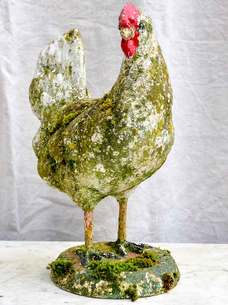 Early 20th Century sculpture of a chicken