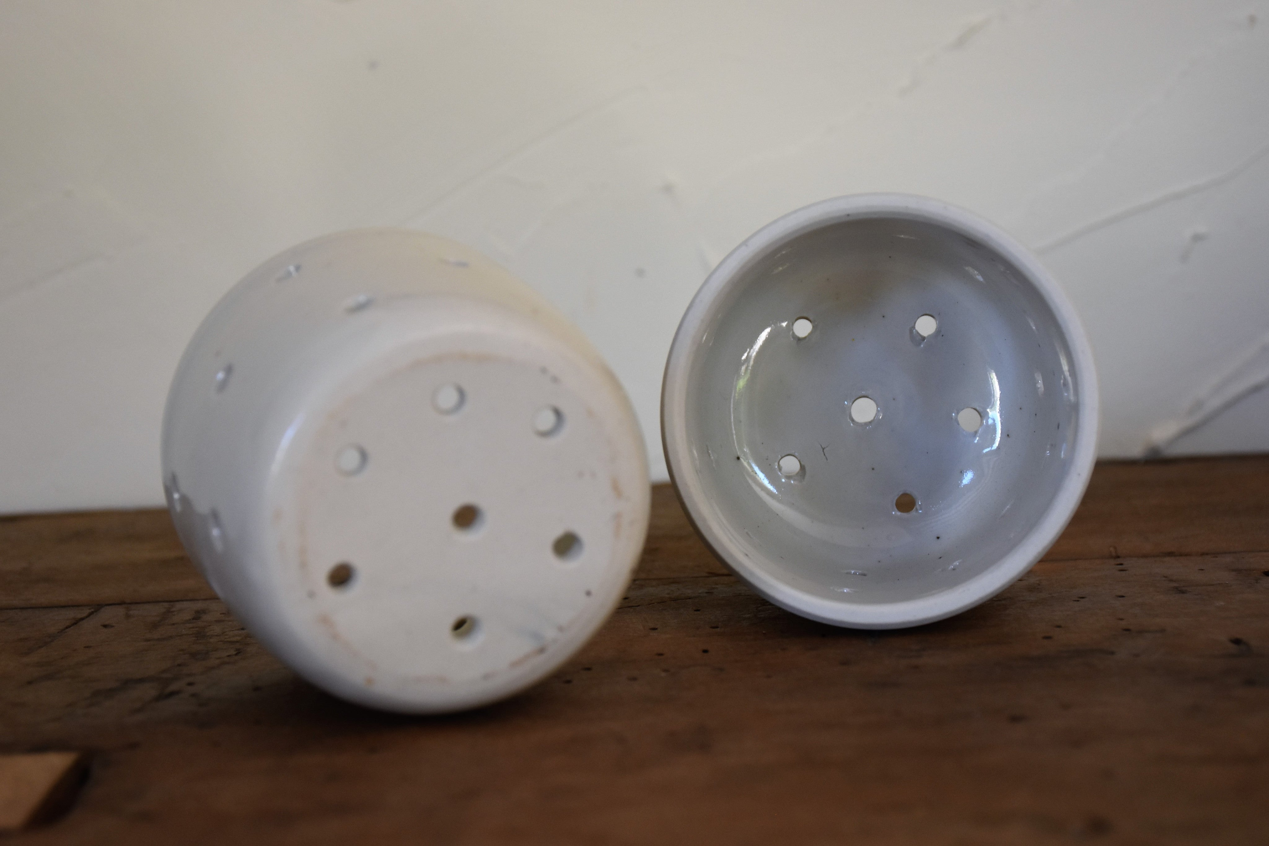 Vintage French cheese moulds