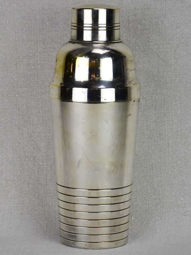 Early 20th century French cocktail shaker - silver plate
