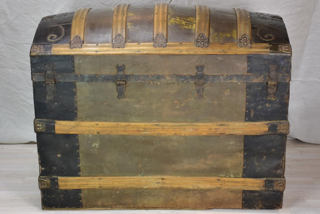 Large late 19th Century voyage trunk 40¼""