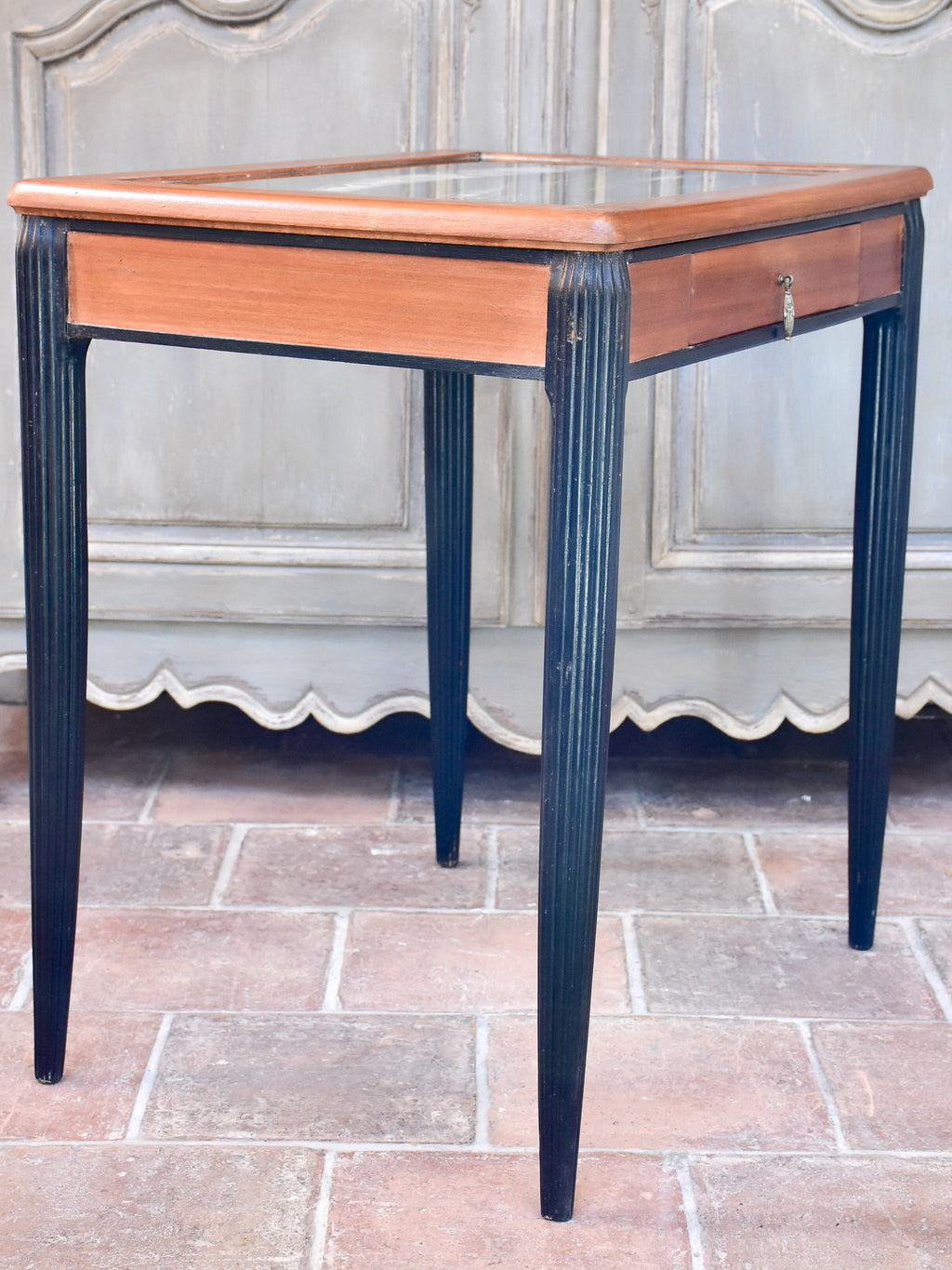 Art Deco Thonet mirrored table attributed to André Groult