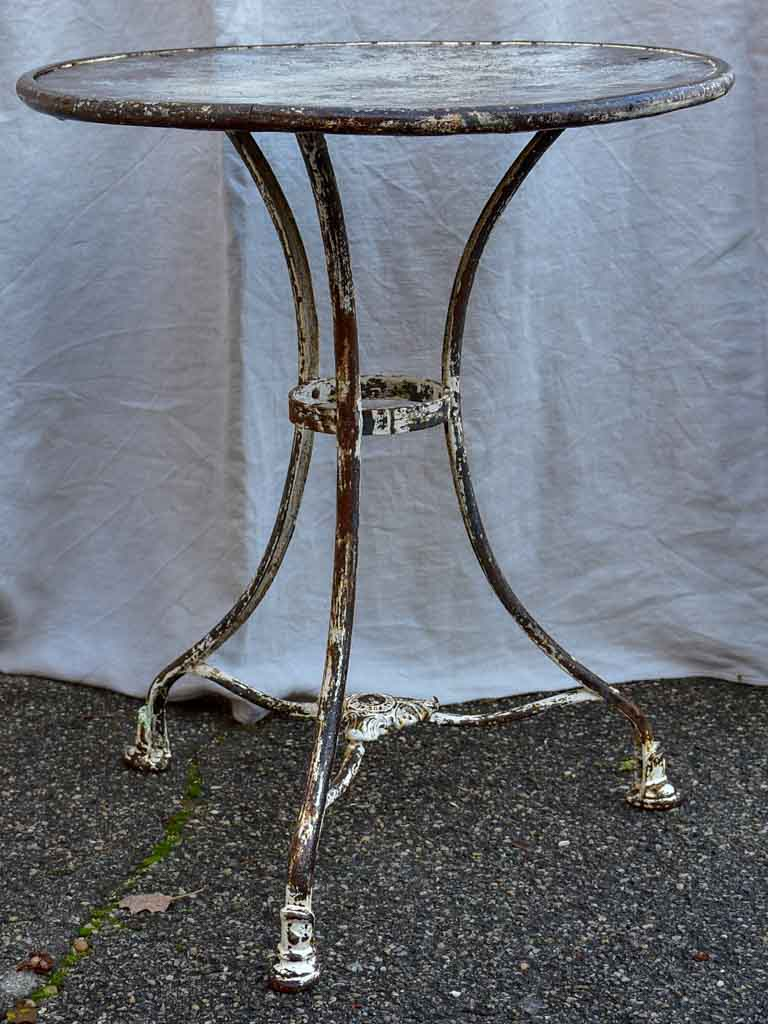 Antique French Arras garden table - round