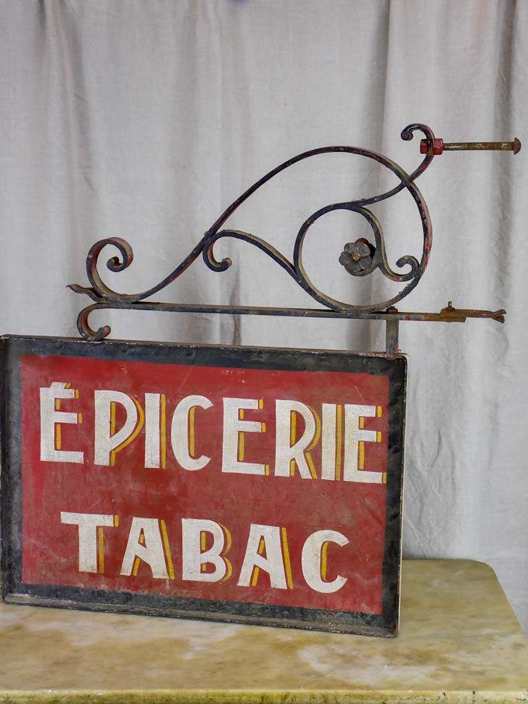 Antique French shop sign - Epicerie Tabac
