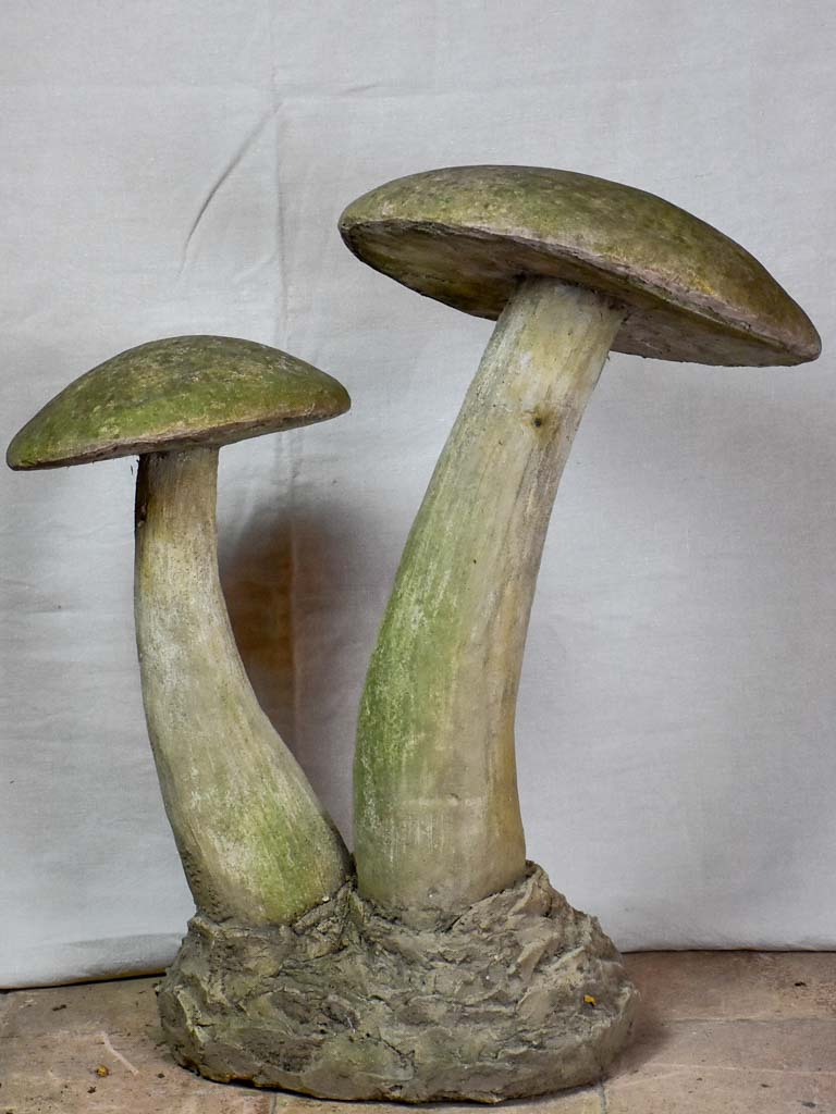 Early 20th Century French garden mushroom sculpture 31""