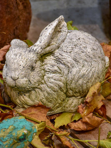 Vintage French garden sculpture of a rabbit