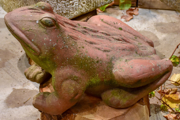 Vintage French garden sculpture of a frog