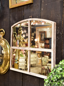Framed French arch mirror – petite fenêtre