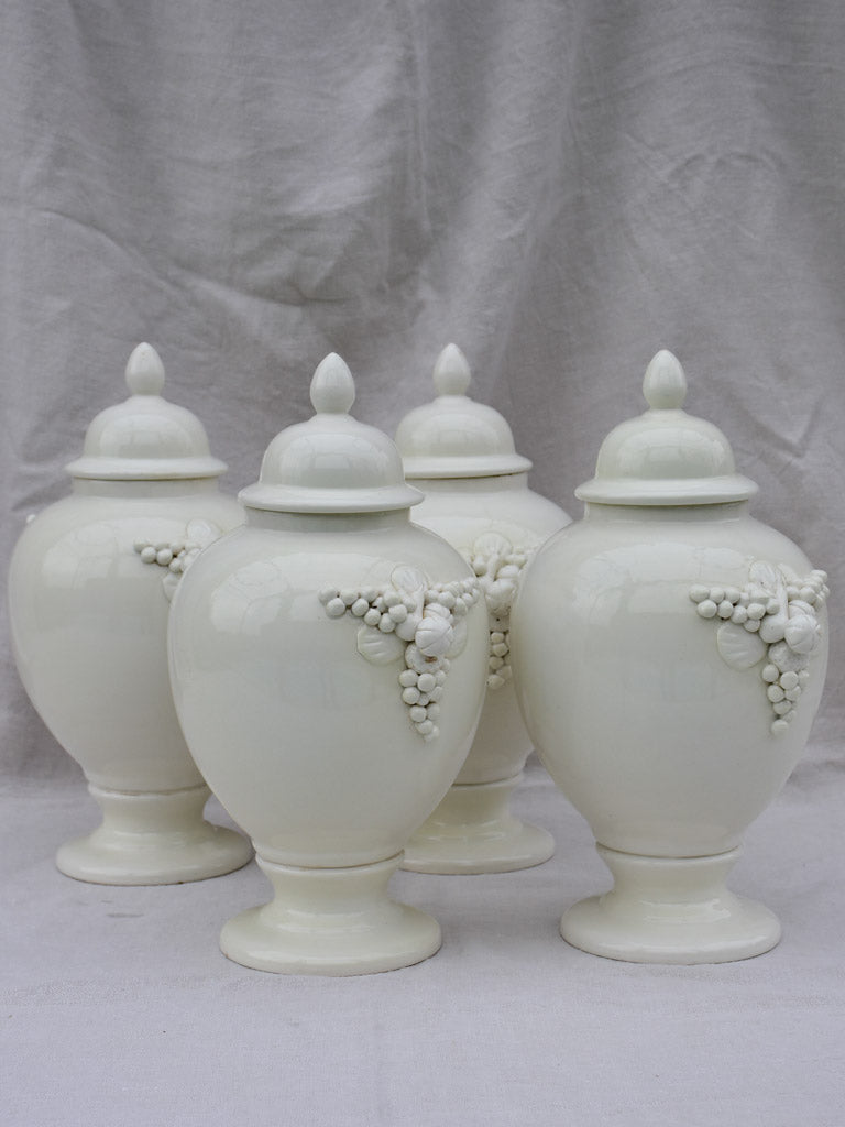 Four large early 20th Century Italian pharmacy jars