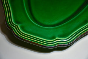 Vintage French green glazed platter from Dieulefit