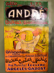 Vintage French poster from a haidresser