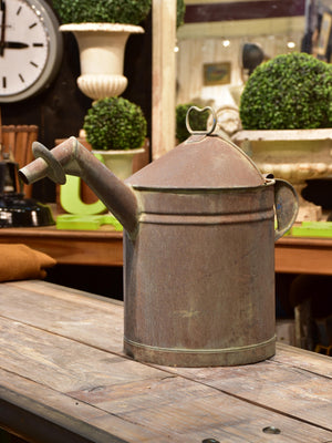 Rustic French wine pourer – zinc