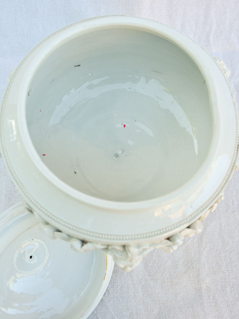 RESERVED Antique Italian soup tureen with lions head motifs 16¼""