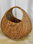 1960's French woven basket handbag