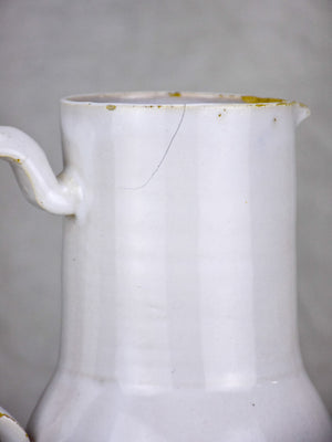 19th Century French faience pitcher from Varages