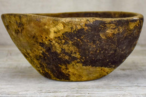 Primitive wooden bowl from south west France