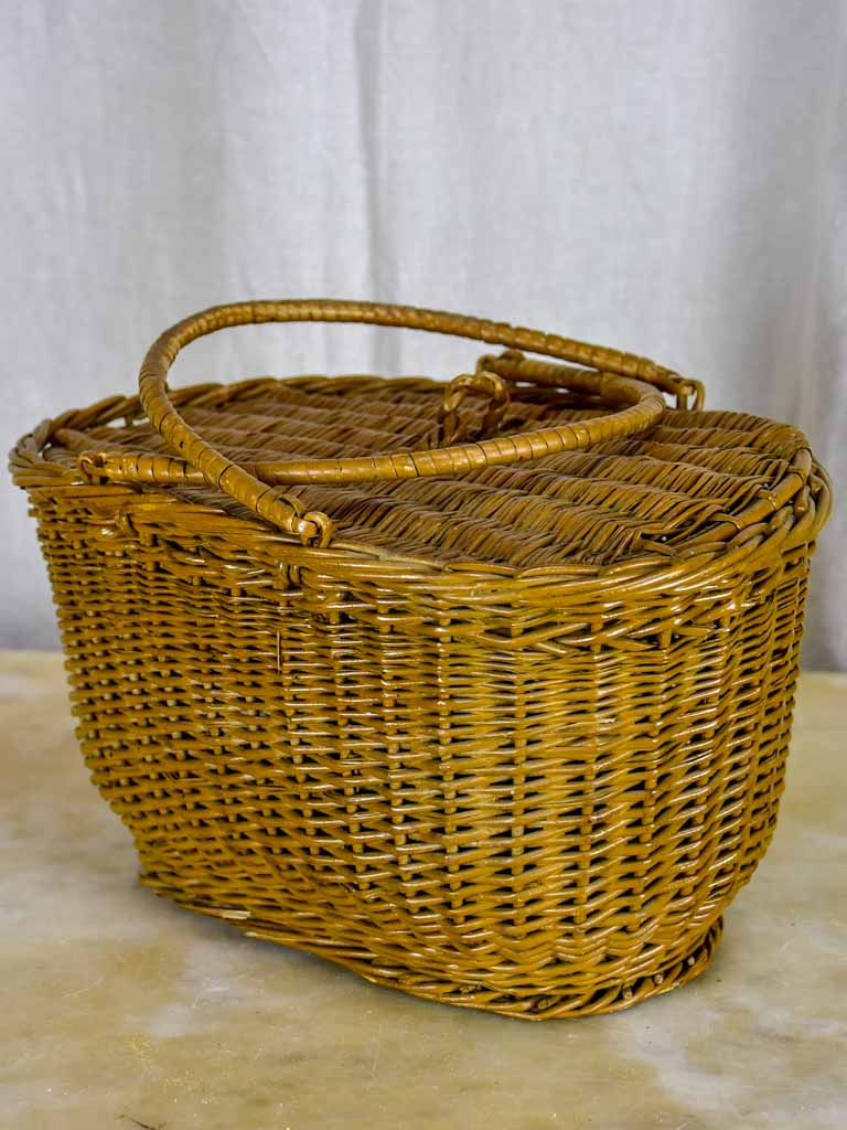 Antique French basket for fishing