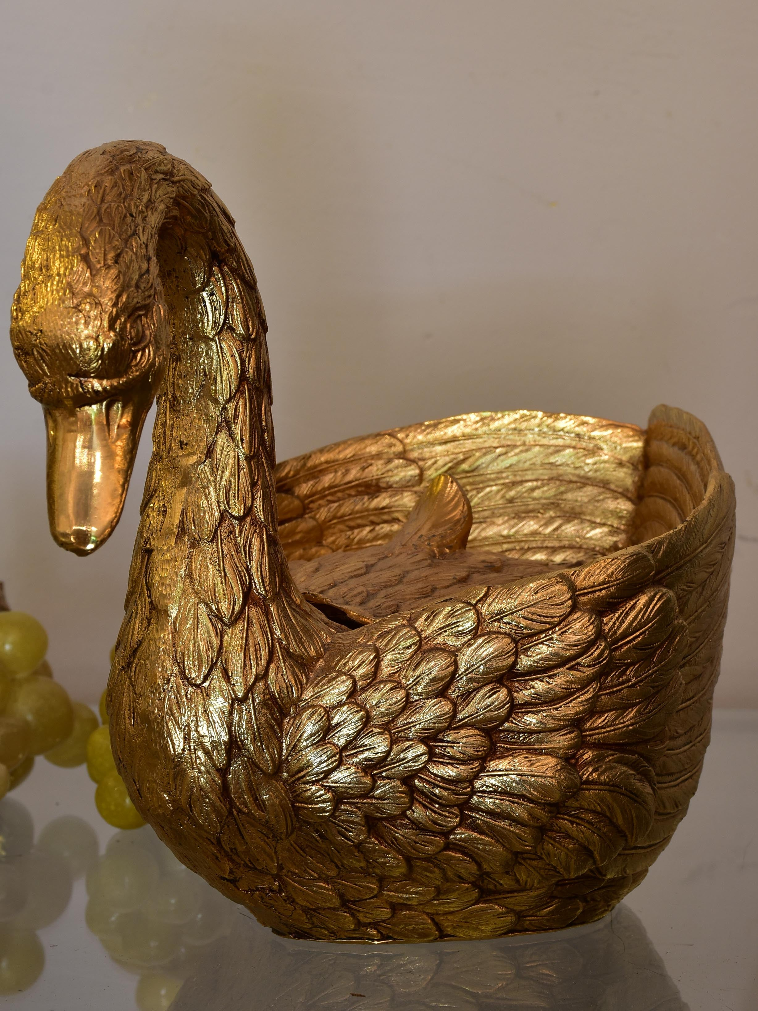 Gold Mauro Manetti swan ice bucket