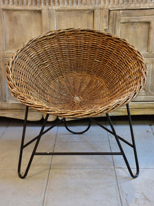1960's wicker chairs - pair