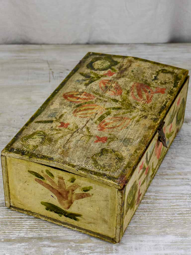 18th Century hand painted French marriage chest