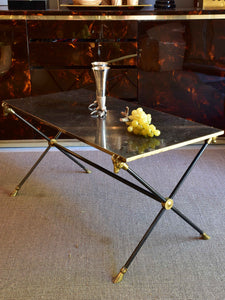 Maison Baguès coffee table with black marble top
