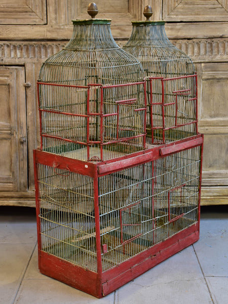 Rustic 19th century French birdcage