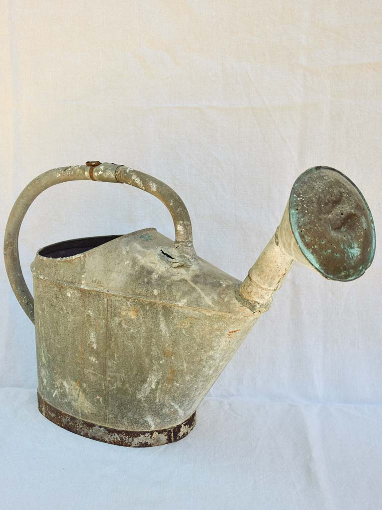 Large antique French zinc watering can - L'ideal
