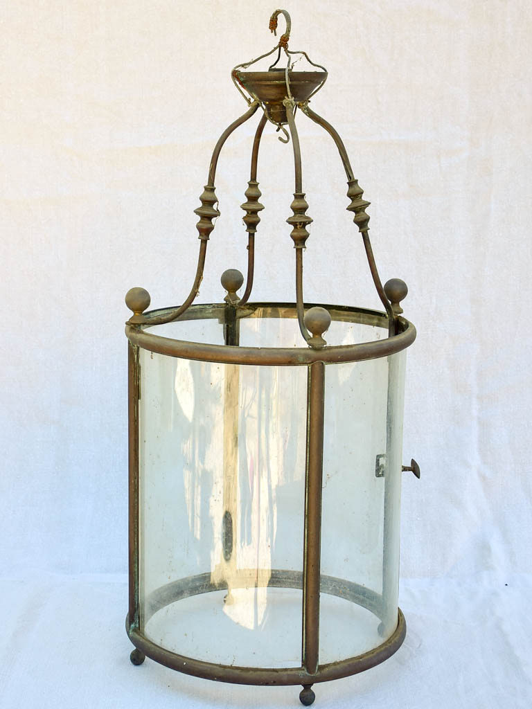 Large antique French lantern for indoors 30¾""