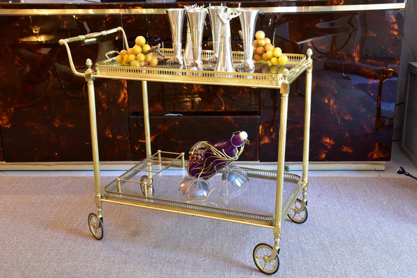 Mid-century French bar cart