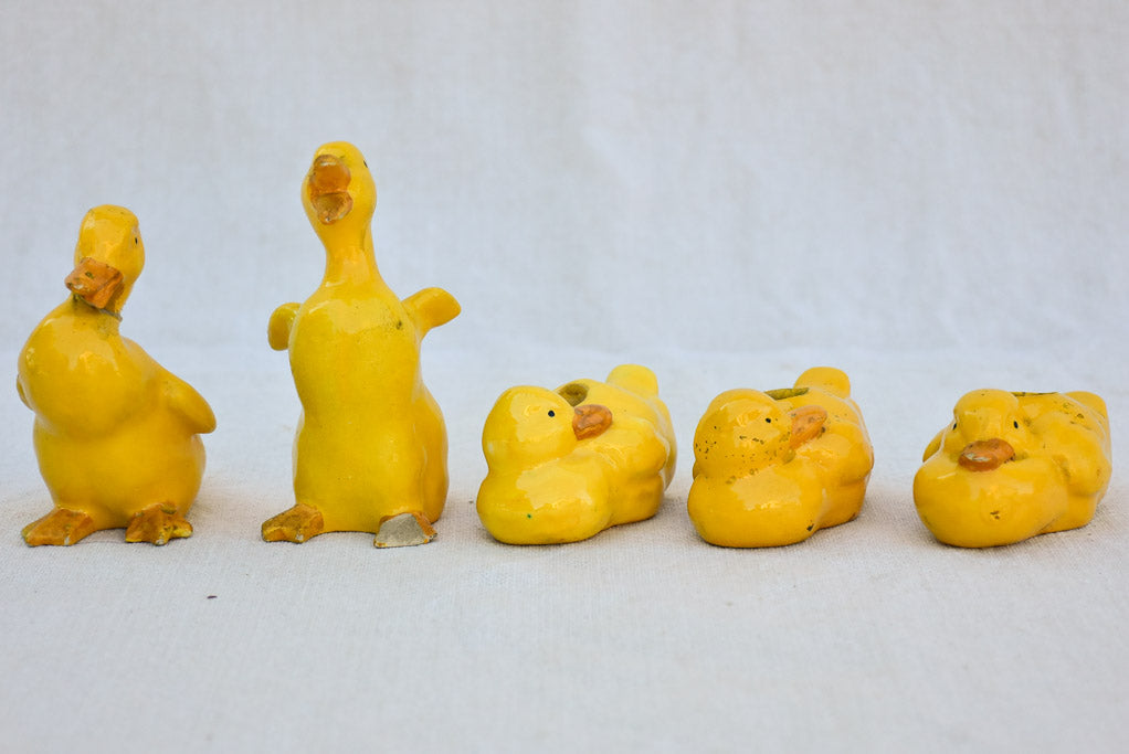 Antique French baby duckling decorations