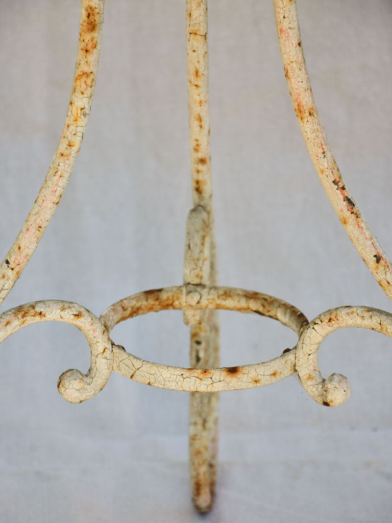 Early twentieth century French garden table with looped base 20¾""