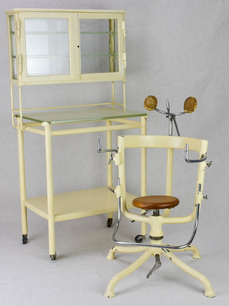 Doctor's miniature sample chair and trolley from the 1930's