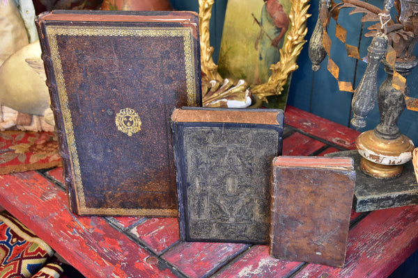 Collection of three secret storage book boxes