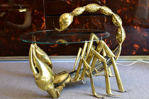 Duval Brasseur scorpion coffee table – signed